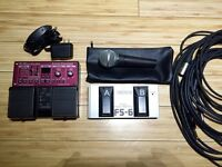 Loop Pedal, Microphone & Cables