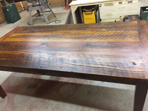 Harvest Table reclaimed Barn Board constuction.