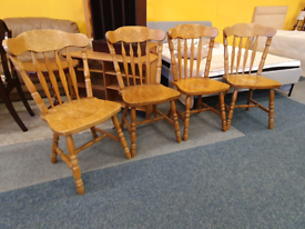 Set of 4 farmhouse dining chairs £35