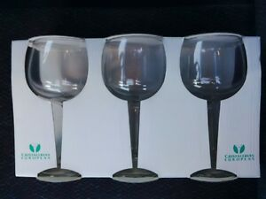 Set of 3 new wine glasses, $5