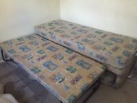 Double divan bed plus 2 other beds