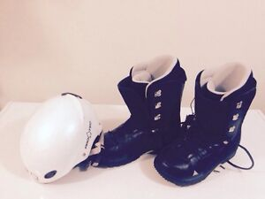 Skii boots & helmet for sale
