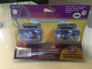 Twin halogen fog lights