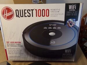 HOOVER  QUEST  1000  ROBOTIC  VACUUM  WI-FI  ENABLED