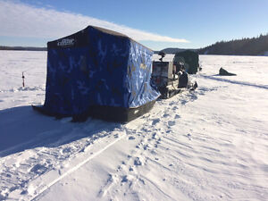 Otter 4 person Ice Fishing Pop up sleigh
