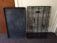 Dog crate cage, complete, excellent condition.