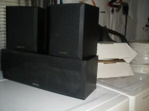 KENWOOD SPEAKERS CENTER AND RIGHT AND LEFT