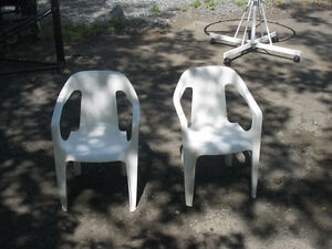 Two sturdy  resin chairs for small children