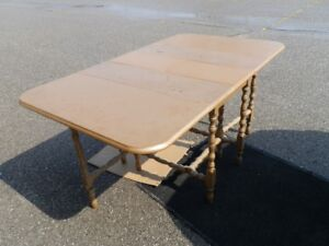 Large Antique Solid Wood Gate Leg Table
