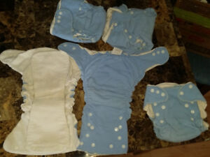 5 tiny tush fitted cloth diapers