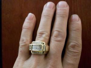 Or 10K avec 56 diamants certifier par bijoutiers.