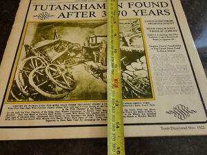 Reproduction of a Vintage History In Headlines of King Tut Book Kitchener / Waterloo Kitchener Area image 6