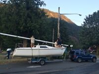 TURNKEY 23 ft. Hunter Sailboat and galvanized tralier
