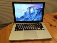 Macbook 13 inch Aluminum Unibody laptop 4gb or 8gb pro ram memory with new battery