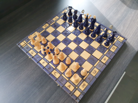 Luxury 14inch Wooden Pearl Folding Chess Set