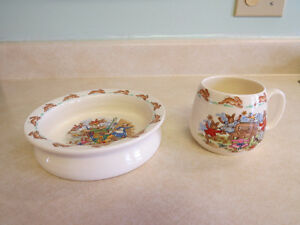 Royal Doulton Bunnykins Cup & Bowl