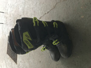 Motocross boots and chest protector