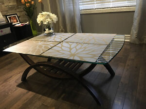Glass Top Coffee Table & a Sofa Table for Sale