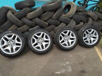 BMW X3 alloy wheels 18inch with excellent tyres