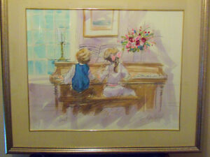 Alan DuVal Signed Numbered Piano Print:The Duet: Great Gift!