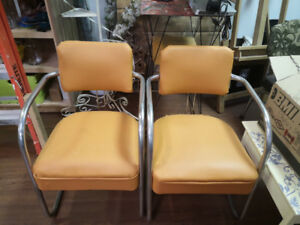 Vintage/Retro Pumpkin Orange Chairs