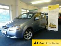 06 REG CHEVROLET KALOS 1.4 SX AUTOMATIC 5 DOOR, ONLY 49000 WARRANTED MILES.