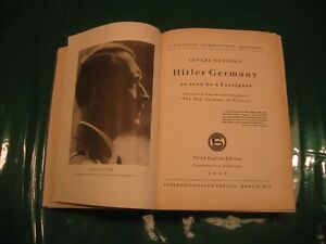 Hitler Germany as seen by a foreigner by Cesare Santoro Cambridge Kitchener Area image 2