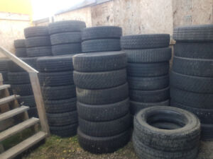 "Lots of Used 19.5"" Tires, 225-70-19.5, and 245-70-19.5"