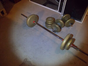 130lbs of Weights, Barbell & Dumbells