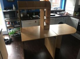 IKEA Extending Desk - Birch/Beech