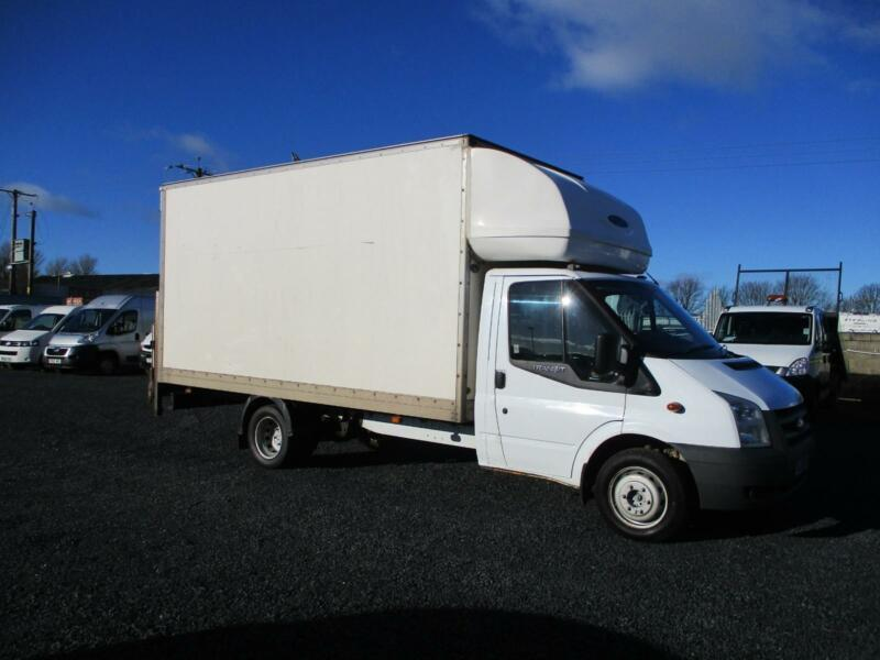 a77bbb5768 2010 60 PLATE FORD TRANSIT 115 T350 LWB LUTON VAN WITH TAIL LIFT