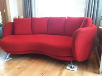 Red Fama Chaise Sofa