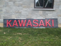kawasaki dealer sign from the 70s