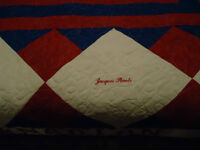 Hand made Montreal Canadien quilt