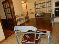 Dining set Table and Baker's rack