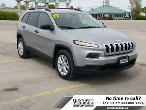 2017 Jeep Cherokee Sport w/Back-up Cam  Rem Start *ONLY 2600KM*