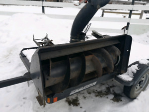 Snowblower attachment for Craftsman lawn tractor