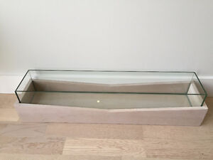 Wooden and Glass West Elm Fish Tank