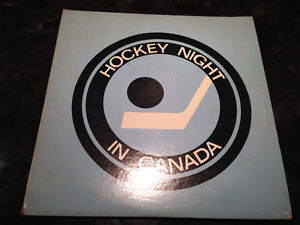 VINTAGE 1960s HOCKEY NIGHT IN CANADA DOUBLE RECORD ALBUM SET