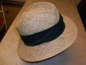 Straw Hat with a Black Band