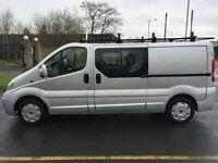 2011 60 VAUXHALL VIVARO 2.0 CDTI 2900 6 SEAT DOUBLE CAB / CREW VAN IN SILVER