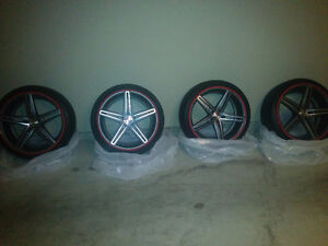 Mint 20 inch Vossen Wheels with Continental Extreme DWS Tires