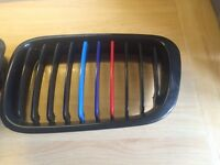 BMW E46 Grill Gloss Black with M styled colours