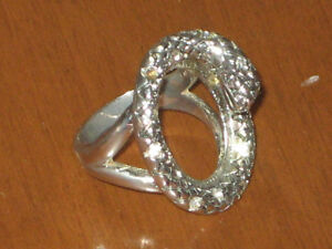 Silver tone serpent ring