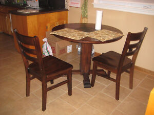 rustic dining table set for 2 for $100