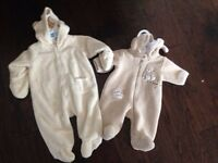 Two snowsuits nb and 3-6