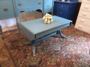 Sweet & So Unique! Shabby Chic Drop Leaf Coffee Table