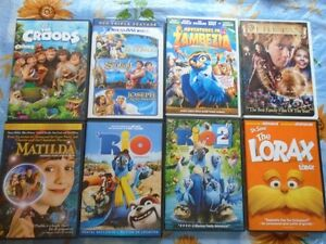 8 kids movies for 5 dollars each or buy all of them for 40.00