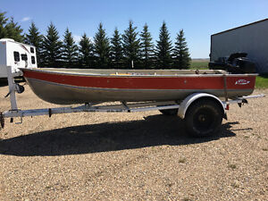 Lund Boat with a 9.8 Mercury Motor