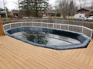 Swimming pool including deck and all accessories
